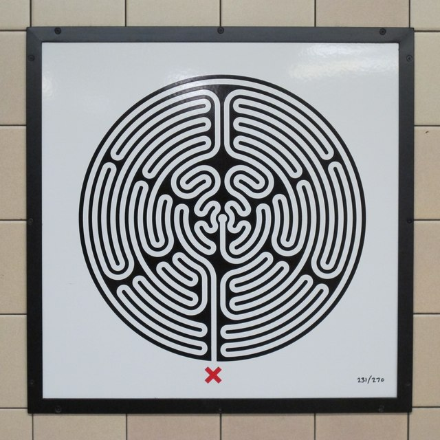 Leicester Square tube station - Labyrinth 231