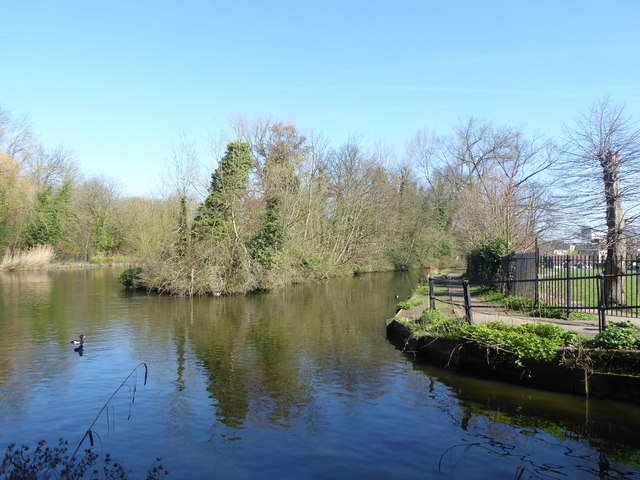 The New River in Town Park, Enfield
