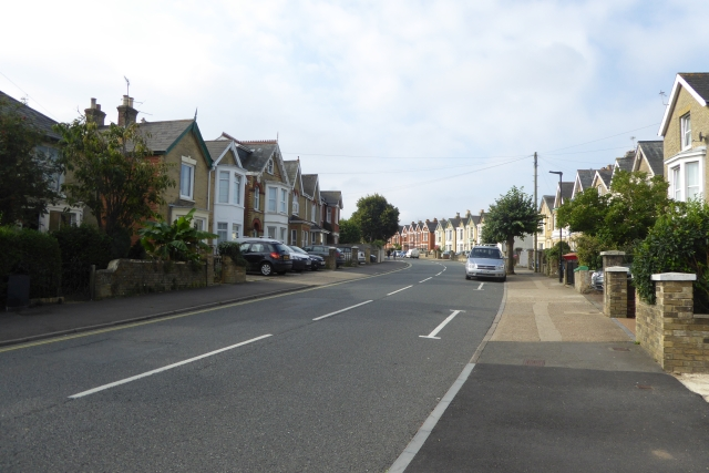 Looking along Mill Hill Road