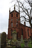 NS4927 : Mauchline Parish Church and Graveyard by Billy McCrorie