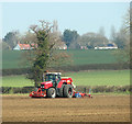 TM0993 : Drilling a field near Doublebank Farm by Evelyn Simak