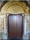 SP2545 : North door to Halford church by Philip Halling