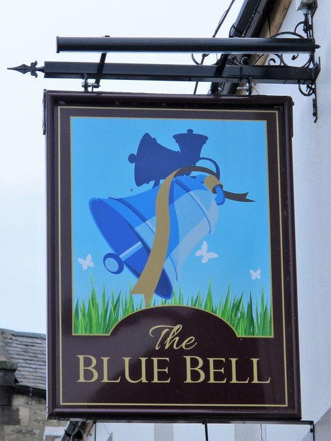 Sign for The Blue Bell, Hill Street