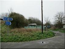 SY6778 : Footpath junction Newstead Road by John Stephen