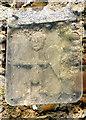 TL7554 : Wickhambrook: All Saints - Saxon carving by John Sutton