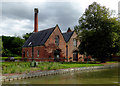 SK3410 : Former pumping station near Snarestone in Leicestershire by Roger  Kidd