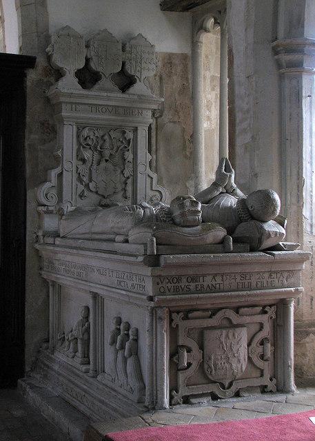 Kedington: St Peter and St Paul - one of the Barnardiston tombs