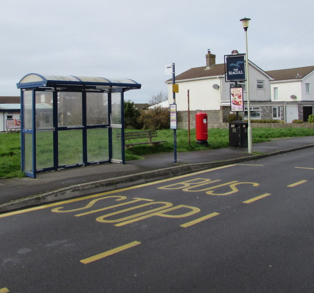 Seagull bus stop, Porthcawl
