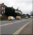 ST2987 : White vans, Bassaleg Road, Newport by Jaggery