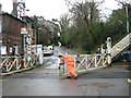 TG3207 : Closing the crossing gates in Station Road, Brundall by Evelyn Simak