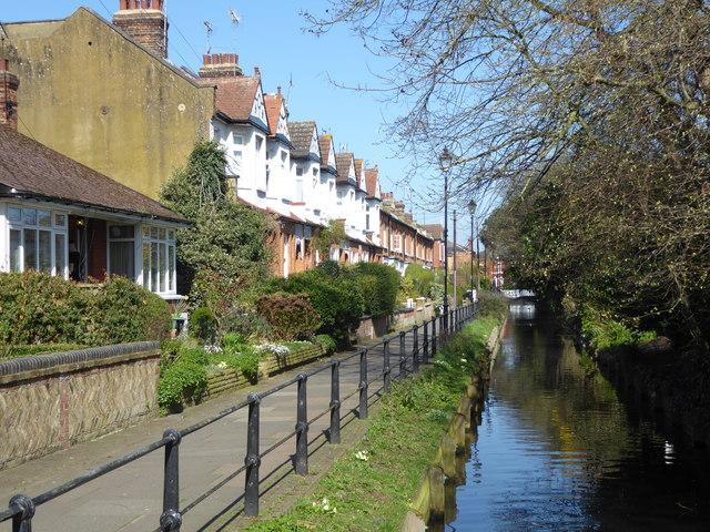 Riverside houses in Enfield