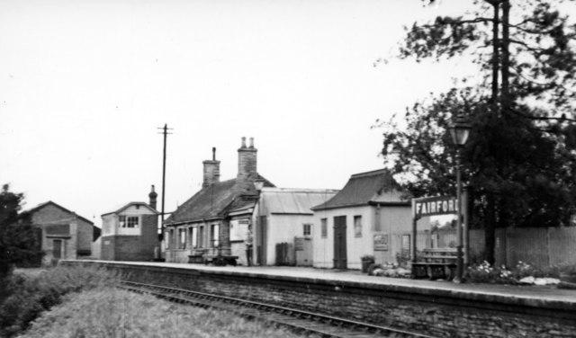 Fairford station, 1950