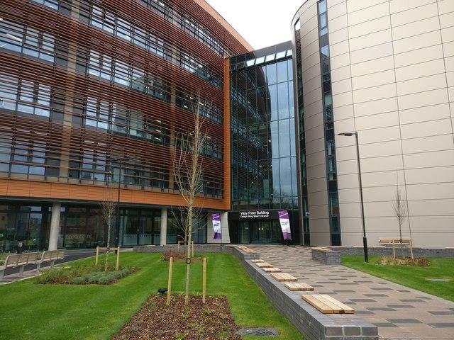 Vijay Patel Building Design Wing West Entrance