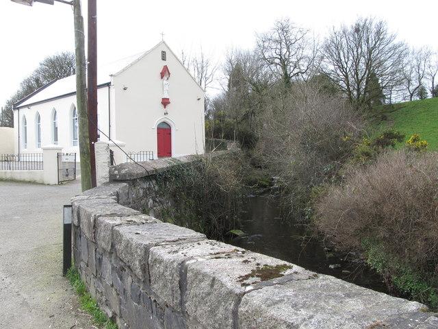 Carrickananny River and St Nrigid's Church