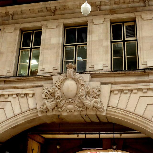 Stonework detail at Victoria station