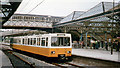 NZ3669 : Tynemouth station, with Metro train, 1980 by Walter Dendy, deceased