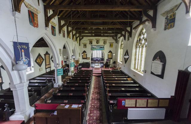 All Saints' church interior, Hunmanby
