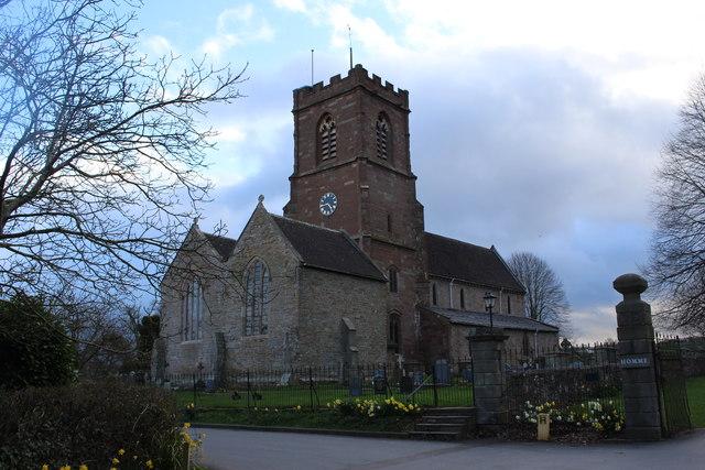 Much Marcle Church at dusk