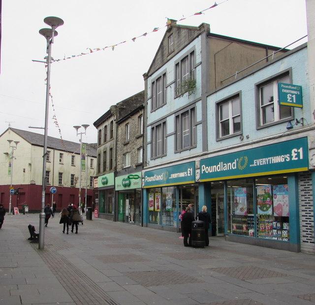 Poundland shop in former Woolworths premises, Bridgend
