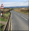 SS8079 : Warning sign - horse riders, West Road near Porthcawl by Jaggery