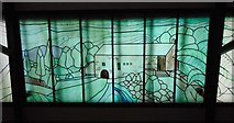 NS5574 : Stained glass, Gavin's Mill by Richard Sutcliffe