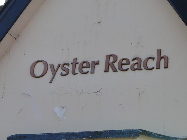 The gable end of the 'Oyster Reach' public house