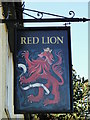 TM2037 : The sign of the 'Red Lion' at Chelmondiston by Adrian S Pye