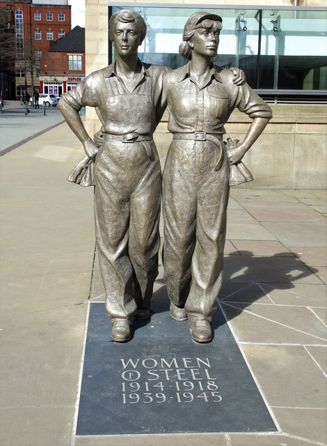 Women of Steel Statue, Barker's Pool, Sheffield