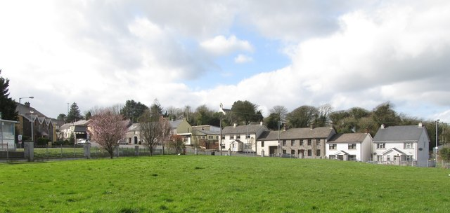 The village of Belleek viewed across the village green