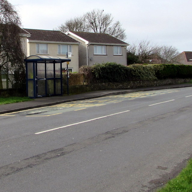 West Road bus stop and shelter, Nottage, Porthcawl