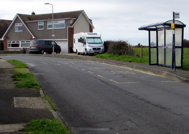 Long Acre Drive bus stop and shelter, Nottage, Porthcawl