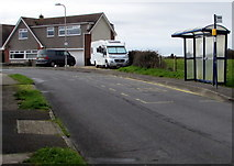 SS8178 : Long Acre Drive bus stop and shelter, Nottage, Porthcawl by Jaggery