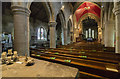 TA1181 : Interior, St Oswald's church, Filey by J.Hannan-Briggs