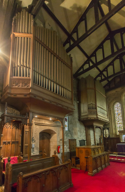 Organ, St Oswald's church, Filey