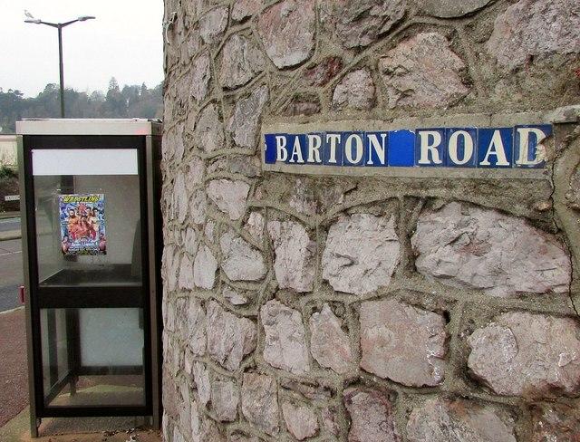 Road name, Barton Road, Torre