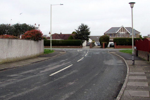 Junction of Anglesey Way and West Road, Nottage, Porthcawl