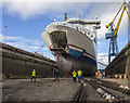 J3676 : 'Stena Superfast VII' in dry dock, Belfast by Rossographer
