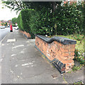 SP1094 : Low garden wall with profiled blue clay coping, Boldmere Road, north Birmingham by Robin Stott