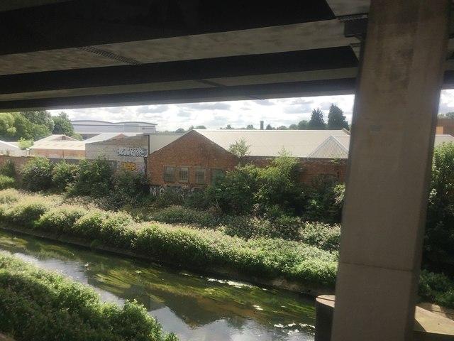 River Tame below the Aston Expressway, Aston, Birmingham