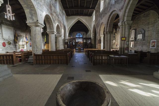 Interior, Ss Peter & Paul church, Pickering