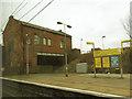 SJ7994 : Stretford station buildings by Stephen Craven