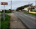 SS8178 : Wordless brown direction sign, West Road, Nottage, Porthcawl by Jaggery