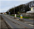 SS8178 : Pedestrian refuge in West Road, Nottage, Porthcawl by Jaggery