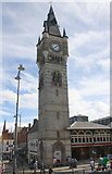 NZ2814 : Market Hall clock tower by Roger Templeman