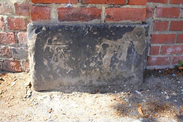 Benchmark on gatepier at former entrance to St Augustine's Centre