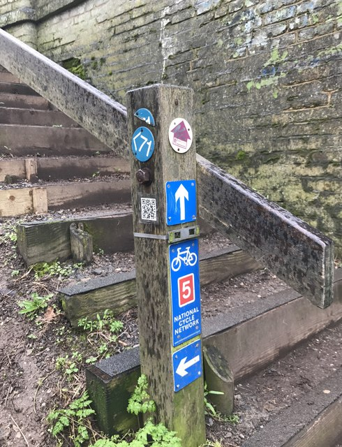 Signpost beside Shropshire Union Canal Middlewich branch