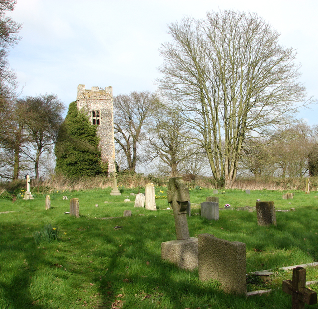 The churchyard of All Saints in Hainford