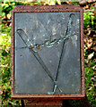 TG1616 : Metal plaque on a mile marker on the Marriott's Way by Evelyn Simak
