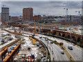 SJ8398 : Ordsall Chord Construction, Roadworks on Trinity Way by David Dixon