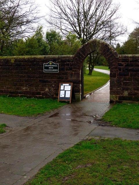 Entrance to Grappenhall Heys walled garden